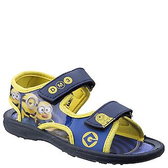 Leomil Kids/Childrens Minions Touch Fastening Sandal