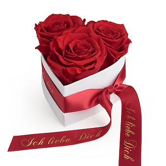 I Love You Gift Flowers 3 Eternal Roses Red