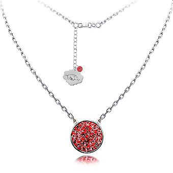 925 Sterling Silver Rhodium Plated Spirit Disc Necklace University Of Arkansas 18 Inch Jewelry Gifts for Women