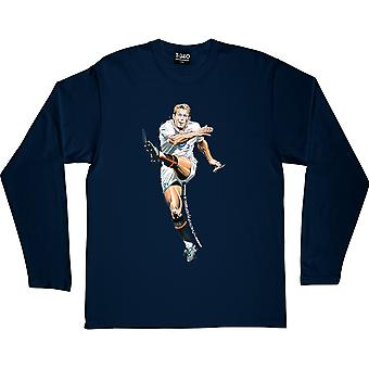 "Jonny Wilkinson ""The Drop Goal"" Navy Blue Long-Sleeved T-Shirt"