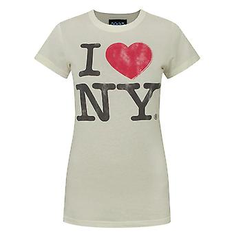 Junk Food I Love New York White Women-apos;s T-Shirt