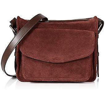 HotterLois Women Multicolored shoulder bag (Maroon/Chocolate)21.5x18x54 Centimeters (W x H x L)