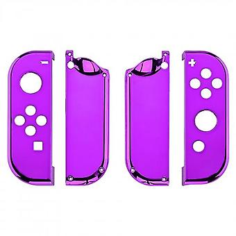 Housing shell for nintendo switch joy-con controller hard casing replacement - chrome purple | zedlabz