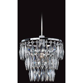 Firstlight Flux Crystal Chrome Shade Plafondlicht