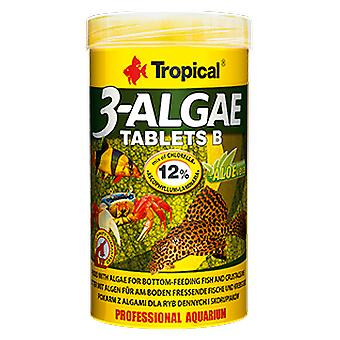 Tropical 20742 3-Algae Tablets B 50 ml (Fish , Food , Warm Water)