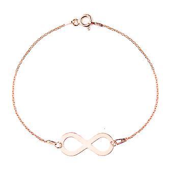 Ah, não! Joias 18K Ouro rosa sobre pulseira infinita de prata esterlina, Carimbado 925