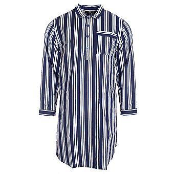 Walter Grange Mens Tradicional Camisa de Lã Listrada