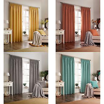 Furn Harrison Pencil Pleat Faux Wool Curtains (Pair)