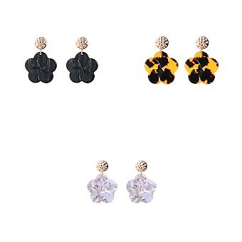 Jewelcity Sunkissed Womens/dames opknoping bloemen oorbellen