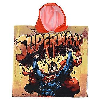 Superman poncho towel boys beach and bath