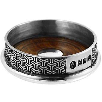 Symetrix tin en hout wijnfles Coaster