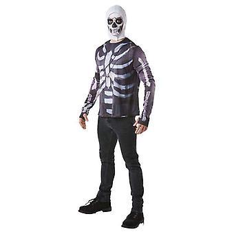 Rubie's Fortnite Skull Trooper Adult Costume Top & Hood
