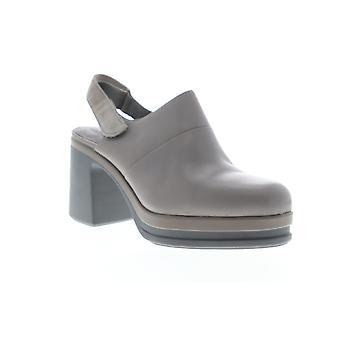 Camper Alice Womens grå läder justerbar rem pumpar klackar skor