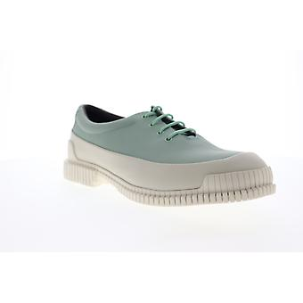 Camper Pix  Mens Green Leather Casual Lace Up Oxfords Shoes