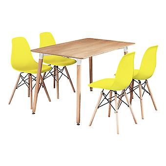 Romano Halo Dining Table Set With 4 Chairs