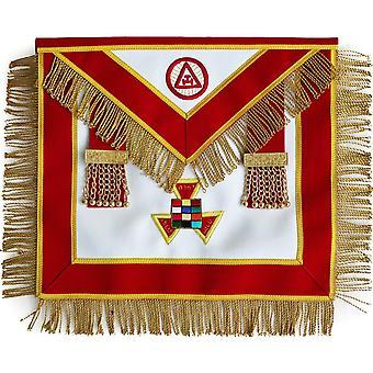 Arc royal maçonnique passé php de tablier de grand prêtre avec des glands brodés à la main