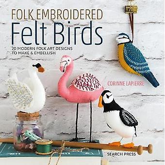 Folk brodert filt fugler - 20 moderne folkart design for å lage &
