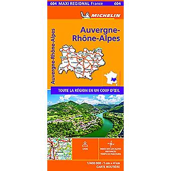 AUVERGNE-RHONE-ALPES - France - Michelin Maxi Regional Map 604 - Map -