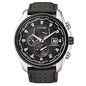 Citizen men's quartz wristwatch in AT9036___08E leather