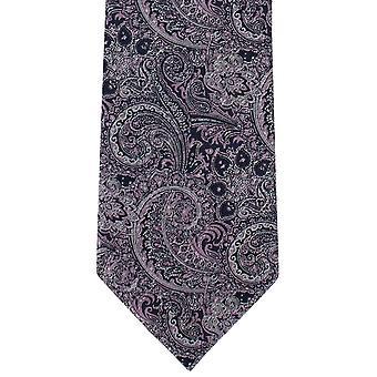 Michelsons di Londra elaborato Paisley poliestere cravatta - rosa