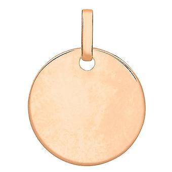 KJ Beckett redondo disco colgante - oro rosa