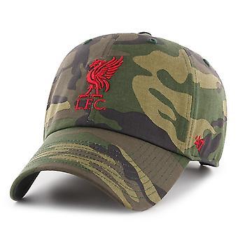 47 Brand Säädettävä Korkki - FC Liverpool puu camo / punainen