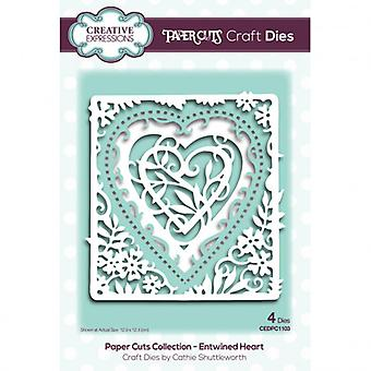 Expressions créatives - Coupes de papier Craft Cutting Dies - Entwined Heart