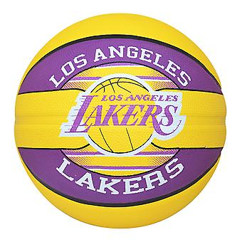Spalding Los Angeles Los Angeles Lakers NBA squadra basket giallo/viola taglia 7