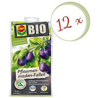 Sparset: 12 x COMPO BIO Plum Made Traps, 2 pieces