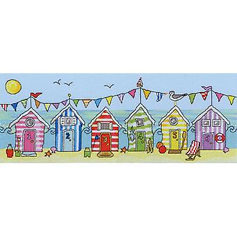 Bothy Threads Cross Stitch Kit - Beach Hut Fun