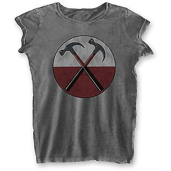 Ladies Pink Floyd The Wall Hammers Burnout Official T-Shirt Female