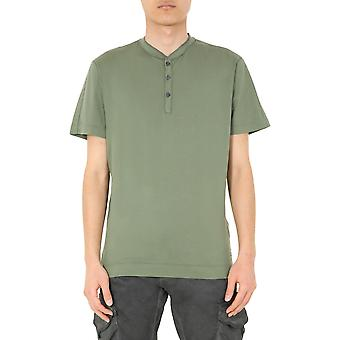 C.p. Företag 08cmts155a000444g651 Män's Green Cotton T-shirt