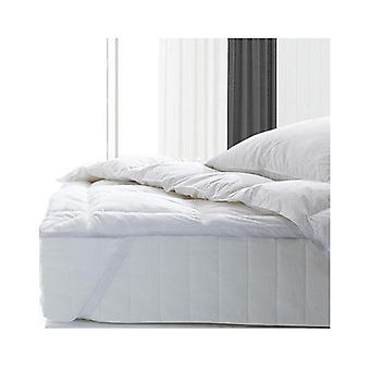 Royal Comfort Fitted Foam Cover Goose Mattress Topper White