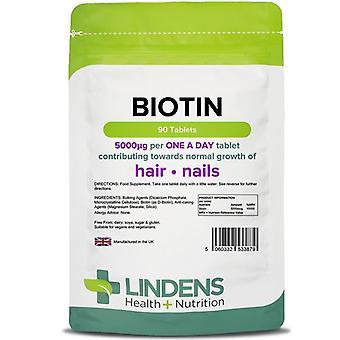 Lindens Biotin 5mg Tabletit 90 (3879)