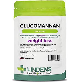 Lindens Glucomannan (Konjac Fibre) 500mg Capsules 90 (4401)