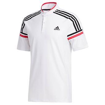 adidas Golf Mens 2020 Sport Style Short Sleeve Button Neck Stretch Polo Shirt