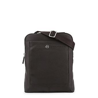 Man leather across-body handbag p41367