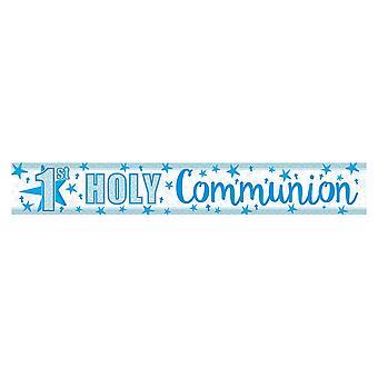 Amscan 1er Communion Sainte feuille holographique bannière