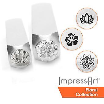 ImpressArt Garden and Flower Design Metal Stamping, Metal Stamps 3mm, 6mm, 9.5mm