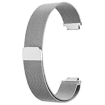 """For Fitbit Inspire / 2 / HR / Ace 2 Strap Milanese Band Stainless Steel Magnetic[Small (5.3""""-7.9""""),Silver]"""