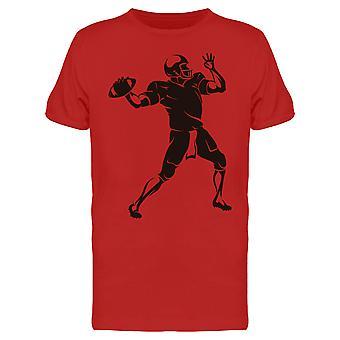 Quarterback Throw Design Tee Men's -Image by Shutterstock