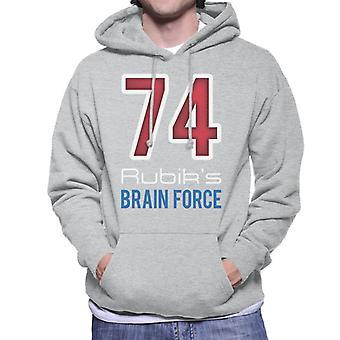 Rubiks 74 Brain Force mäns Huvtröja