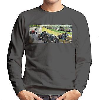 The Saturday Evening Post Vintage Race Car Peter Helck Men's Sweatshirt