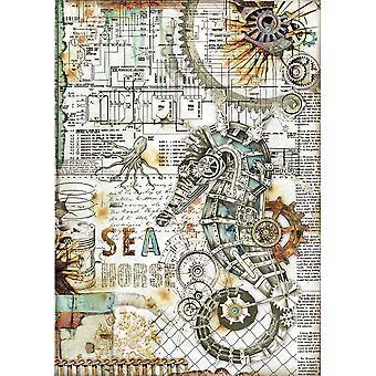 Stamperia Rice Paper A4 Hippocampe