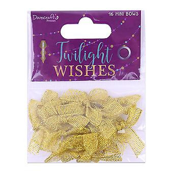 Dovecraft Twilight Wishes Glitter Mini Bows (16pcs) (DCRBN045X19)