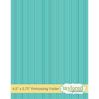 Taylored Expressions Bead Board Embossing Folder