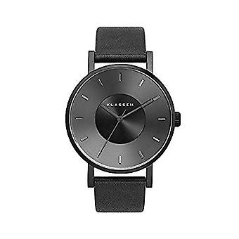 Klasse 14 V014BK002M Quartz Black Dial Black Leather Men's Watch