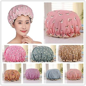 Waterproof Women Shower Cap Satin Beanie Hair Bonnet Bath Accessories Shampoo Multiple Shower Caps Bathroom Set Dustproof