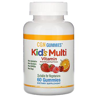 California Gold Nutrition, Kid's Multi Vitamin Gummies, No Gelatin, Mixed Berry