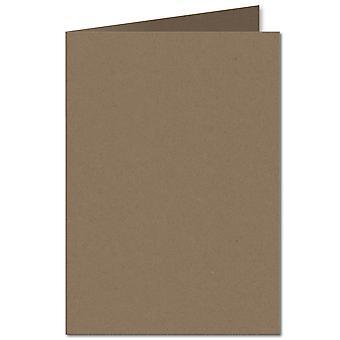 Fleck Manilla. 148mm x 210mm. A6 (Long Edge). 280gsm Folded Card Blank.